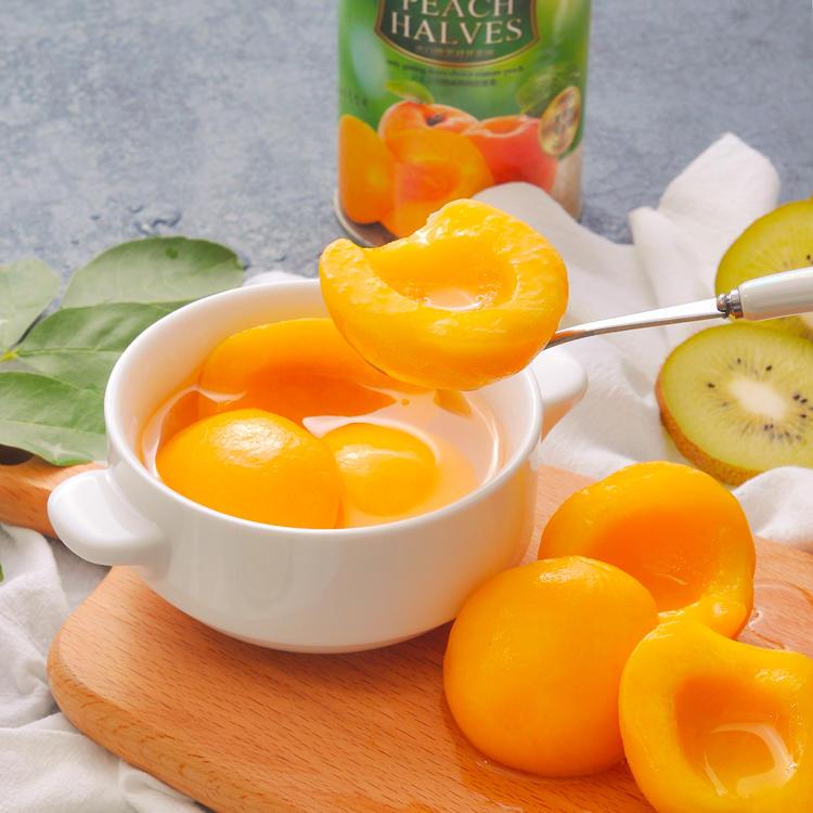 天天罐养 | 出口级经典原味黄桃罐头/香橙黄桃 4罐*425g
