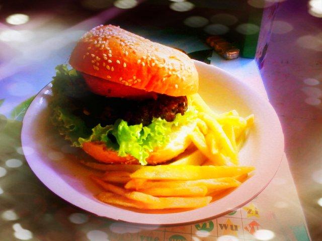 田园牛肉汉堡