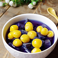 膳食纤维:紫薯金瓜圆