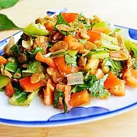 经典家常下饭菜——尖椒拌虾皮