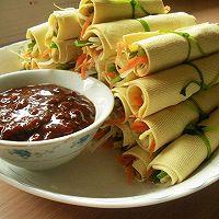 豆皮蔬菜卷