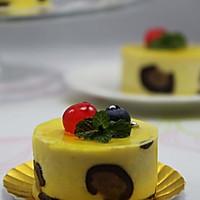既优雅 又不失小野性的唯美蛋糕 --- 芒果豹纹慕斯蛋糕