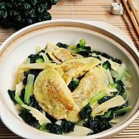 提升经典滋味---鲜美的乌塌菜冬笋烩蛋饺