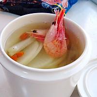 北极虾白萝卜汤