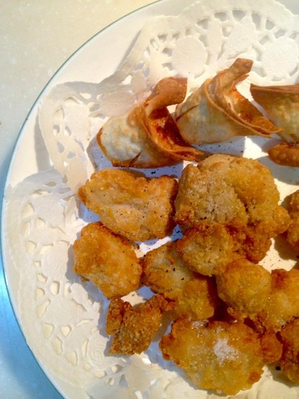 空气炸锅版炸鸡块和馄饨