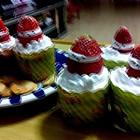 圣诞小熊杯子蛋糕