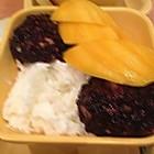 芒果白雪黑糯米甜甜。