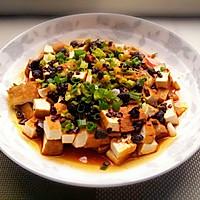 豆豉油淋豆腐