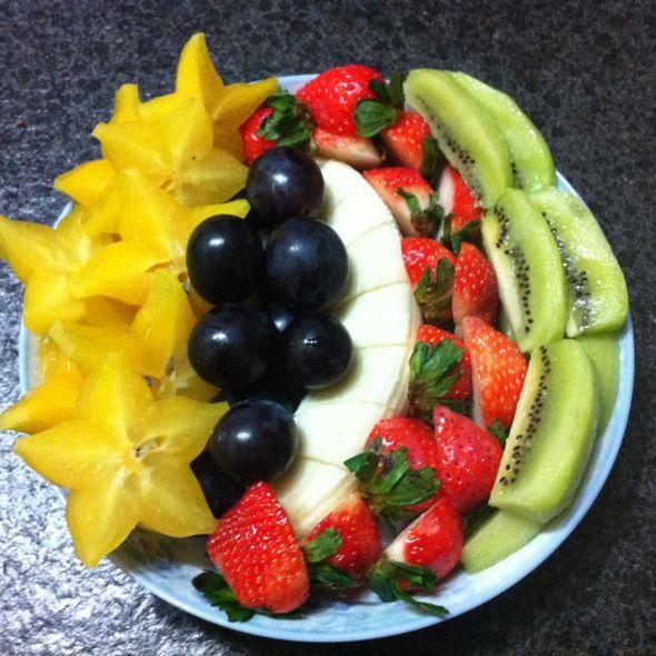 水果拼盘,我的晚餐