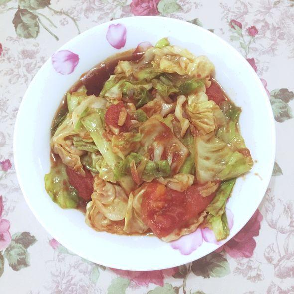 番茄炒圆白菜