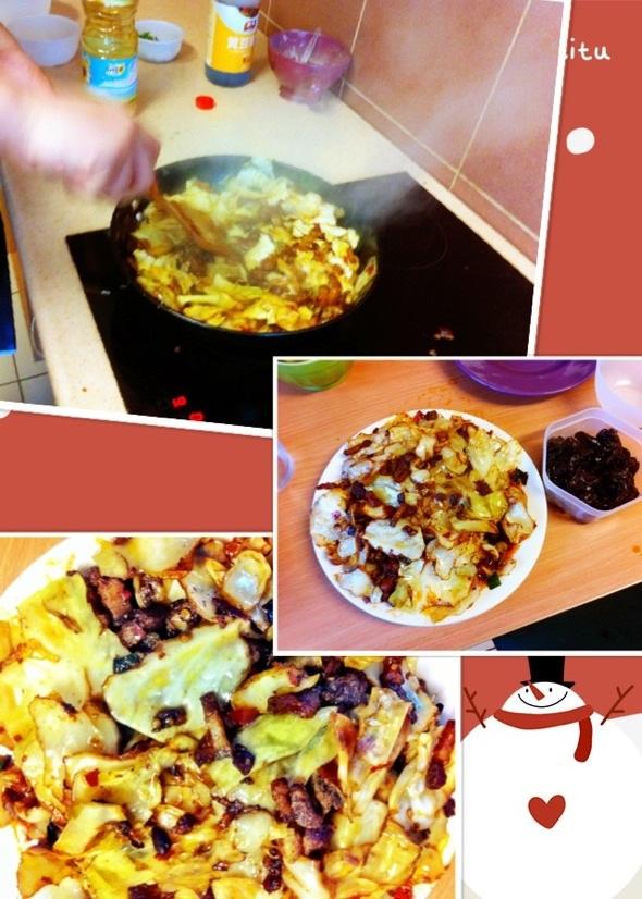 包心菜炒回锅肉