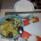 牛肉米饭+牛奶燕麦