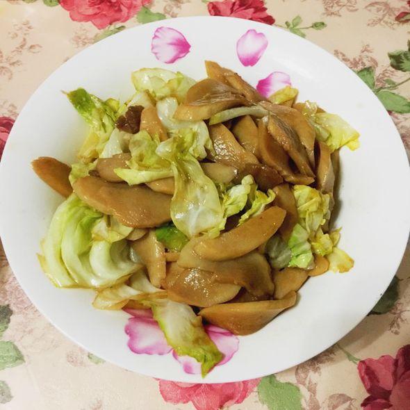 包菜炒杏鲍菇