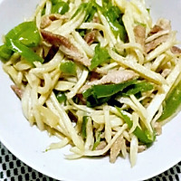 清椒茭白炒肉丝