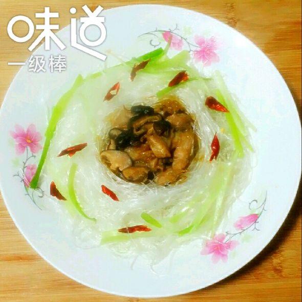 蒸粉丝香菇鸡腿肉