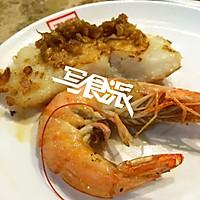 烤鳕鱼和烤大虾