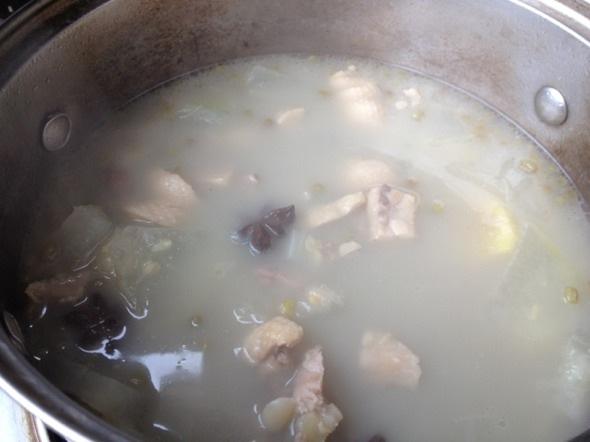 冬瓜绿豆鸭汤