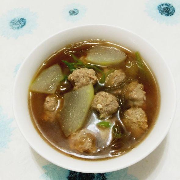 冬瓜丸子粉条汤