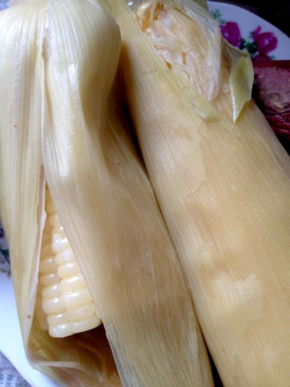 夏天买的生玉米一直冻在冰箱里