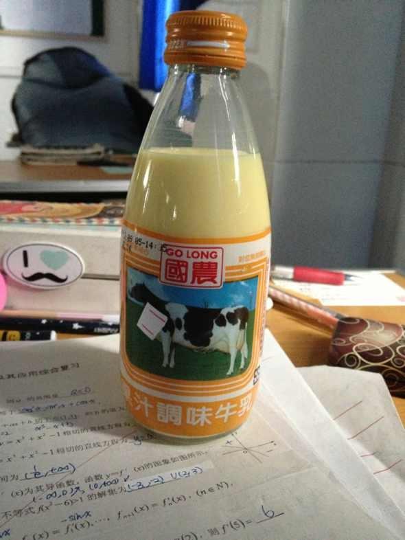 果汁调味牛乳