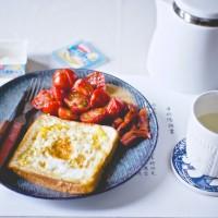 吐司小番茄早餐