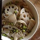 莲藕炒毛豆