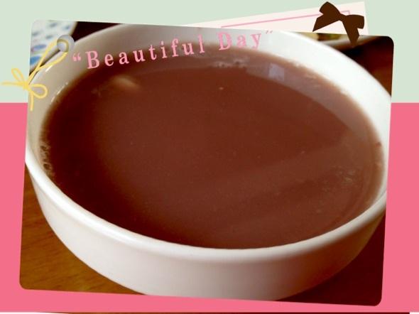 紫米红豆莲子汤