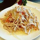 鲜姜虫草花炒肉丝