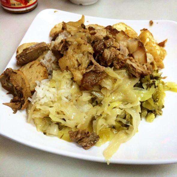 酸菜猪手饭