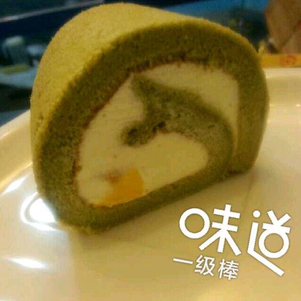 抹茶芒果卷蛋糕