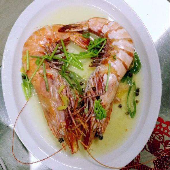 妈妈的生日虾,爸爸做的,居然是心形