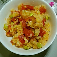 番茄虾仁黄金炒饭