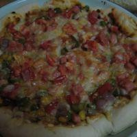 自制微波炉披萨
