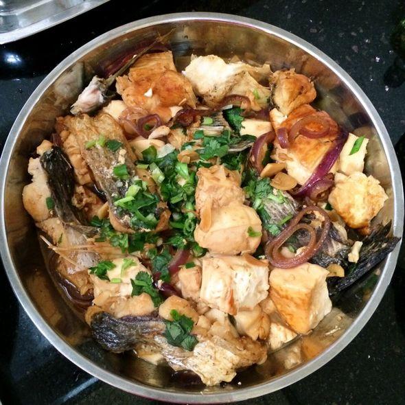 豆腐烧鱼块