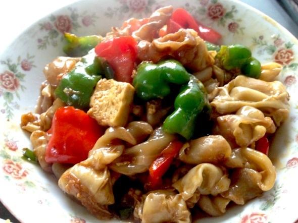 菜椒烩鱼泡