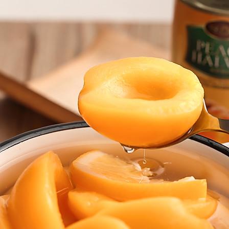 天天罐养   出口级香橙黄桃罐头 425g*4罐 安全零防腐