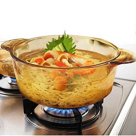美国康宁 晶彩透明玻璃锅一锅多用 2.25升