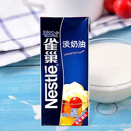 雀巢 淡奶油 鲜奶油250ml 烘焙原料